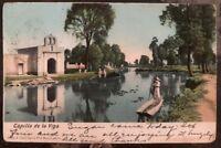1906 Pachuca Mexico PPC Postcard Cover To New York USA Viga Chapel