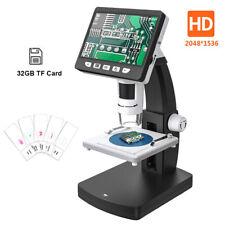"Video digital 1000X 3.5"" HD Computadora De Soporte Microscopio Endoscopio Recargable"
