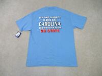 NEW VINTAGE North Carolina Tar Heels Shirt Adult Large Blue Basketball Mens 90s*