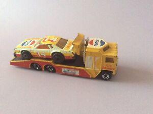 Matchbox Superfast Kenworth Cabover Racing Transporter & Chevy Pro Stocker Set