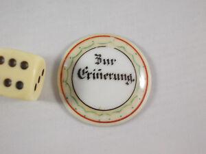 Antike Bierkrug Porzellaneinlage (2) für Zinndeckel um 1900 Porzellandeckel alt