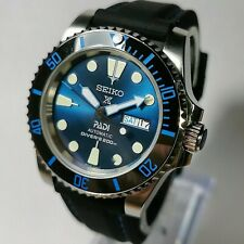 SUBMARINER DIVERS WATCH Modified With SEIKO NH36 Automatic Padi Dial Ceramic...