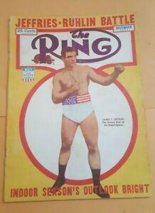 The Ring Boxing Magazine: Nov. 1944. James Jeffries.