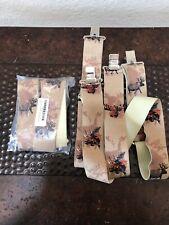 Men's Moose on Khaki Suspenders / Braces Adjustable New