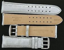 RARE Authentic Invicta Genuine Crocodile  Band Strap 24 mm IS518 SILVER NEW