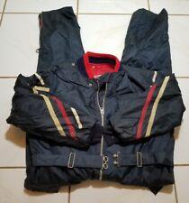 Insulated 100% Virgin Bonded Dacron 60s Snow Ski Suit sz L 44 Worn* USA B1390