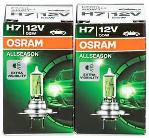 2X H7 55W Osram Lampen 12V Birnen Halogen Lampe Autolampe Birne Px26d Glühlam AC