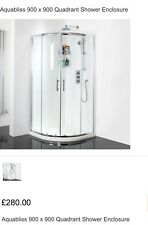 900 X 900 Quadrant Shower Enclosure (8mm glass) tray not included