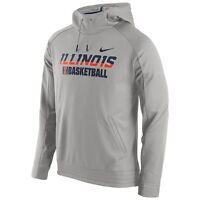 Nike Men's Illinois Elite Basketball Pewter Hoodie**Choose a Size**