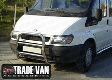 FORD TRANSIT VAN AVANT UN BARRE PARE-BUFFLE CHROME ACIER INOXYDABLE Mk6 2000-06