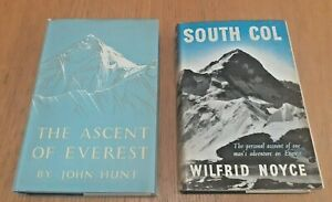 2 Books on Climbing Everest - Ascent of Everest  John Hunt, South Col by W Noyce