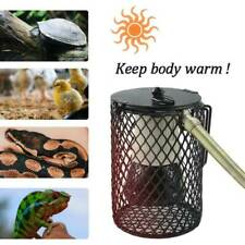 Reptile Terrarium Accessories Kit Ceramic Heater Heat Bulb Lamp Guard Cage Tube