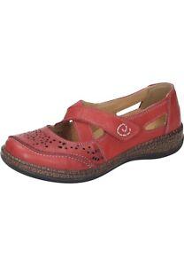 Comfortabel Damenschuhe Leder Sandalen Sandaletten 942588-4 rot 36 - 42 Neu6