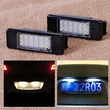 2pcs License Plate Light Lamp 18 LED fits Peugeot 207 308 406 407 Citroen C2 C3