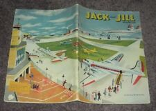 Jack & Jill Magazine,October 1950 (Vintage Airplane Cover,Oriental Paper Dolls)