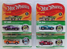 Lot Of 4 Hot Wheels Redline 1969 Heavy Chevy, Light My Firebird, King Kuda, and