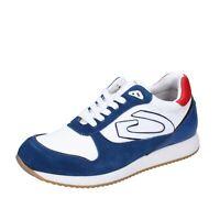Scarpe uomo GUARDIANI 42 EU sneakers blu camoscio bianco tessuto BJ514-42