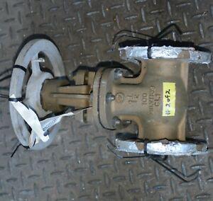 """BRONZE B61 Monel trim 1.5"""" in Marine flanged gate valve WOG100 NAVSEA MIL V 1189"""