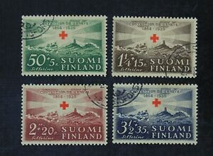 CKStamps: Finland Stamps Collection Scott#B35-B38 Used