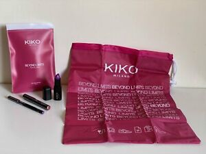 KIKO MILANO TRAVEL BAG / EYE PENCIL / LIP GLOSS  LIPSTICK MAKEUP TRAVEL GIFT SET