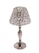 30cm Nickel Crystal Tea Light / Votive Lamp. Excellent Wedding Table Decoration!