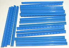 LEGO LOT OF 20 STRAIGHT BLUE MONORAIL TRAIN TRACK RAIL PIECES