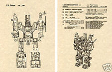 Transformers BRUTICUS Patent Art Print READY TO FRAME!! G1 Decepticon Combiner