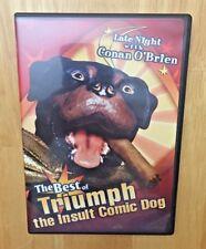 BEST OF TRIUMPH THE INSULT COMIC DOG DVD FULL SCREEN DVD CONAN O'BRIEN 2004 DVD