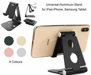 Folding Aluminium Adjustable Desktop Rotary Tablet Stand Phone Holder