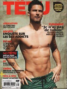Tetu French Gay Interest June 2012 Michael Fassbender Oliver Giroud 070918DBF