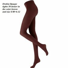 2 Pack Oroblu All (pure) Colors Opaque Tights closely knit silky, brown S/M=6-12