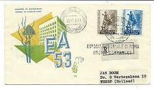 1953 FDC ITALY VENETIA REGISTERED TO HOLLAND