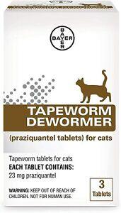 Bayer Tapeworm Dewormer (praziquantel tablets) for Cats, 3-Count Praziquantel