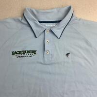 Simms XDRY Fishing Polo Shirt Mens XL Blue Short Sleeve Backcountry Outdoor Polo