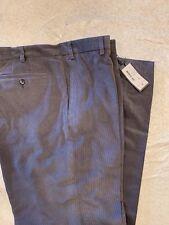 Zanella Mens Gray Devon Flat Front 100% Cotton Corduroy Pants Size 42