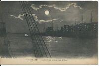 CPA-44- NANTES - La Sortie du port au clair de lune