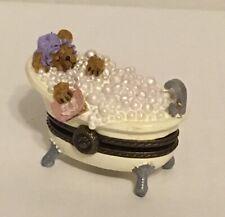 Boyds Treasure Box Bubble'S Tubtime With Quack McNibble, Bathtub