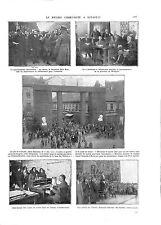 WWI GUERRE CIVIL WAR HUNGARY HONGRIE Communisme Bela Kun à Andrassy ILLUSTRATION