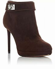 bd0498eb2d7f  SAVE  1000  GIVENCHY SHARK TOOTH LOCK suede ankle boots EU 38 US 7.5 Brown