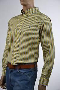 Ralph Lauren Classic Fit Yellow,Blue & Red Stripe Dress Shirt NWT
