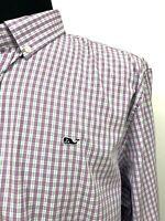 Vineyard Vines Mens Whale Shirt XXL Purple Plaid Preppy Slim Fit New $98 Bright