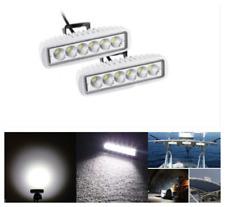 2x White Spreader LED Deck/Marine Lights for Boat Spot Light 18W waterproof