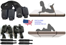 Under Bed Restraint Kit System Cuffs & Strap Set Black New,BDSM,SM,Bondage,Sex