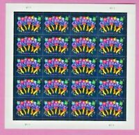 Celebrate!  Forever Stamps 2015 Issue - MNH Sheet of 20 Graduation Birthday Neon