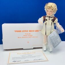 "Danbury Mint Shirley Temple 8"" porcelain doll movie memories Poor Little Rich"