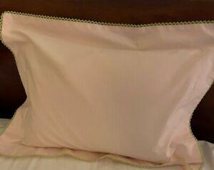 Yves Delorme Boudoir Pillow Sham Pink NEW