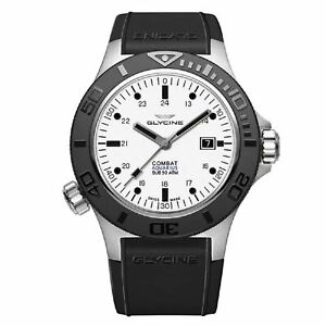 Glycine GL0037 Men's COMBAT SUB AQUARIUS White   Automatic Watch