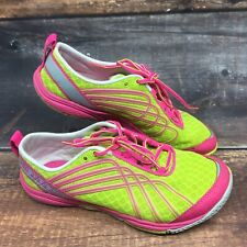 Merrell Women's Size 7 US Yellow Pink J58096 Road Glove Dash 2 Running Shoes