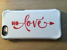 """Love arrow vinyl decal sticker for car laptop phones many colors  size is 1.5""""x4"""