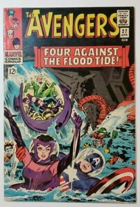 """Avengers #27 FN- 5.5 """"Four Against the Floodtide"""" by Stan Lee & Don Heck!"""